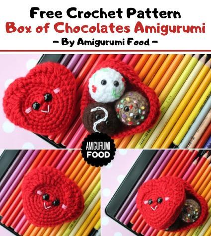 Free Crochet Pattern Box of Chocolates