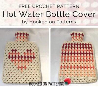 Free Crochet Pattern Hot Water Bottle Cover