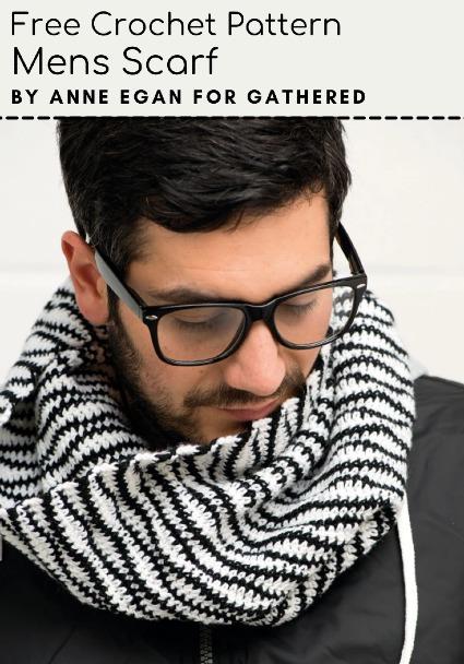 Free Crochet Pattern Mens Scarf