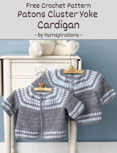 Free Crochet Pattern Patons Cluster Cardigan