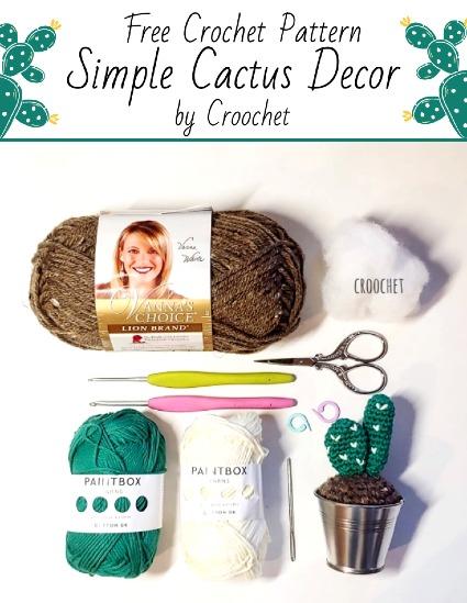 Free Crochet Pattern Simple Cactus Decor