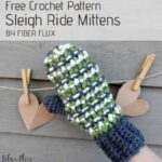 Free Crochet Pattern Sleigh Ride Mittens