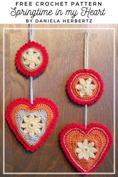 Free Crochet Pattern Springtime in my Heart