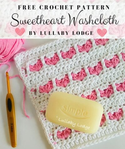 Free Crochet Pattern Sweetheart Washcloth