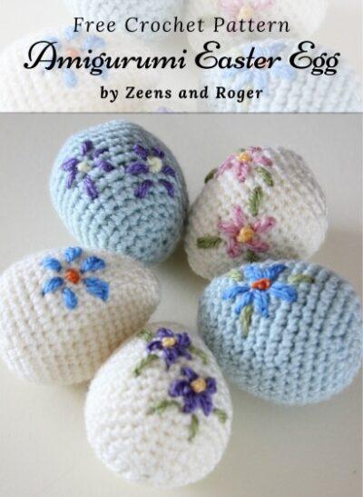 Free Crochet Pattern Amigurumi Easter Egg