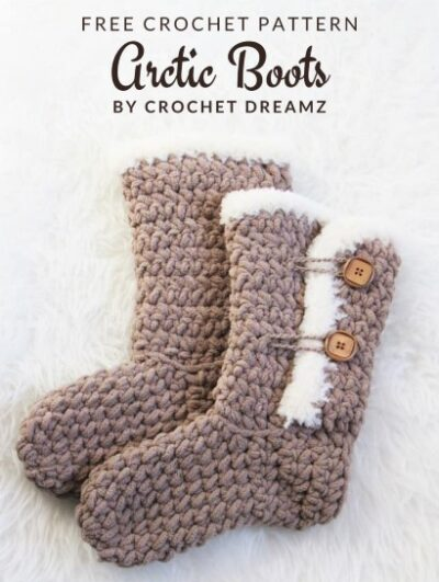 Free Crochet Pattern Arctic Boots