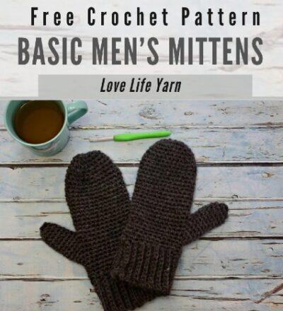 Free Crochet Pattern Basic Men's Mittens
