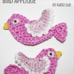 Free Crochet Pattern Bird Applique
