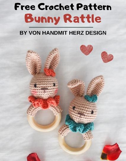 Free Crochet Pattern Bunny Rattle