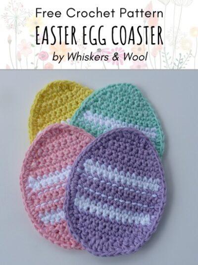 Free Crochet Pattern Easter Egg Coaster