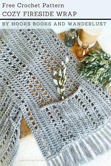 Free Crochet Pattern Cozy Fireside Wrap