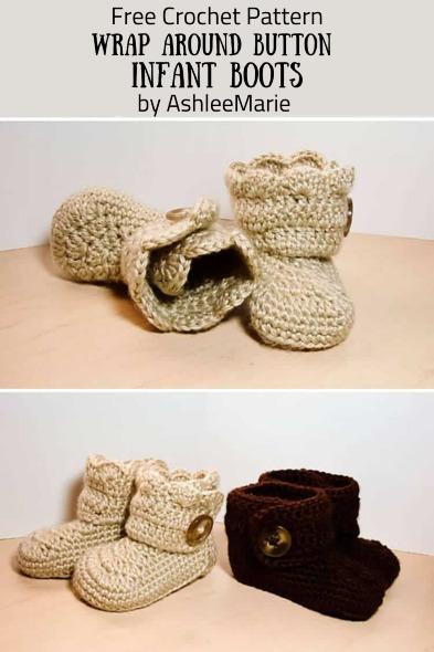 Free Crochet Pattern Infant Boots