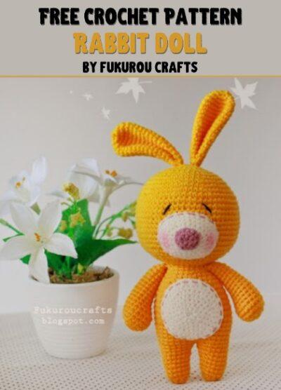 Free Crochet Pattern Rabbit Doll