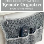 Free Crochet Pattern Remote Organizer