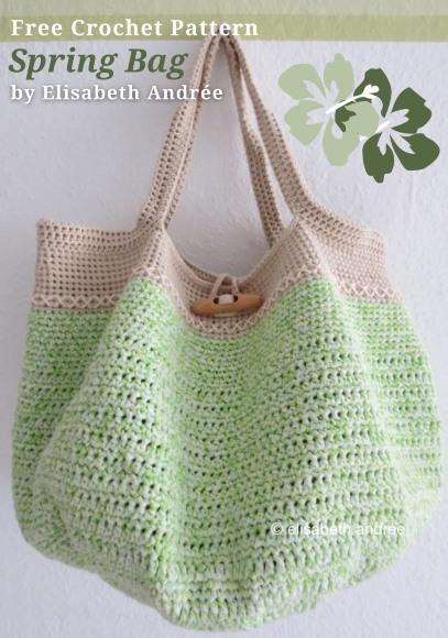 Free Crochet Pattern Spring Bag