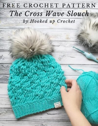 Free Crochet Pattern The Cross Wave Slouch