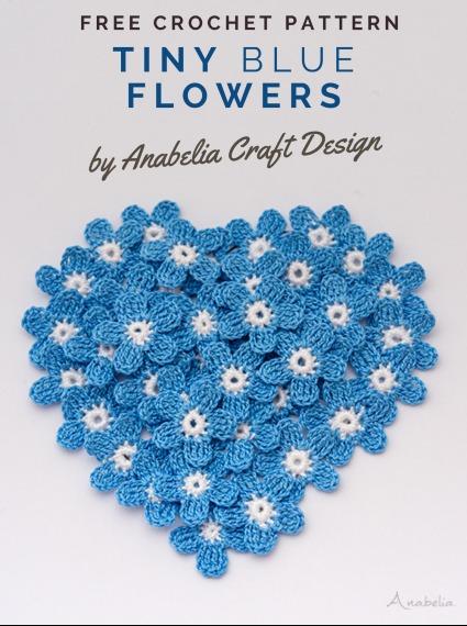 Free Crochet Pattern Tiny Blue Flowers