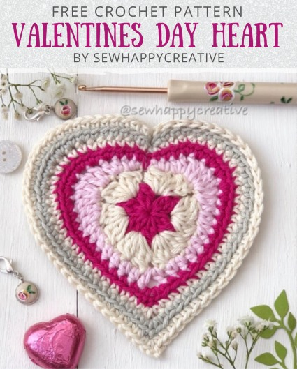 Free Crochet Pattern Valentines Day Heart