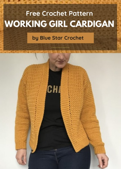 Free Crochet Pattern Working Girl Cardigan