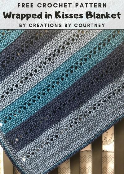 Free Crochet Pattern Wrapped in Kisses Blanket