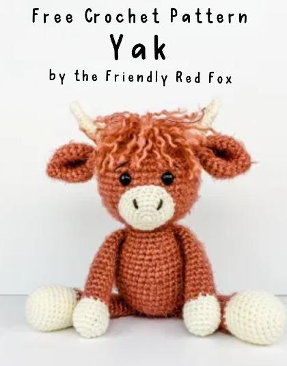 Free Crochet Pattern Yak Amigurumi