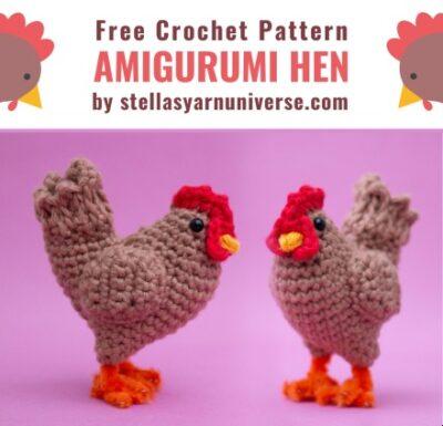 Free Crochet Pattern Amigurumi Hen