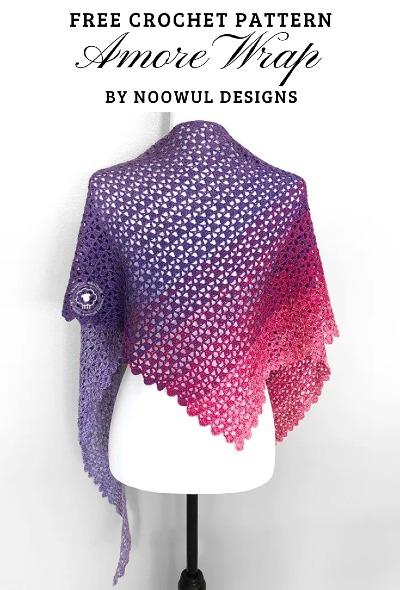 Free Crochet Pattern Amore Wrap Shawl