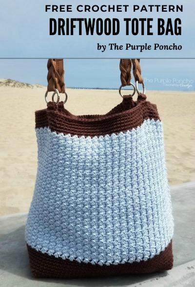 Free Crochet Pattern Driftwood Tote Bag