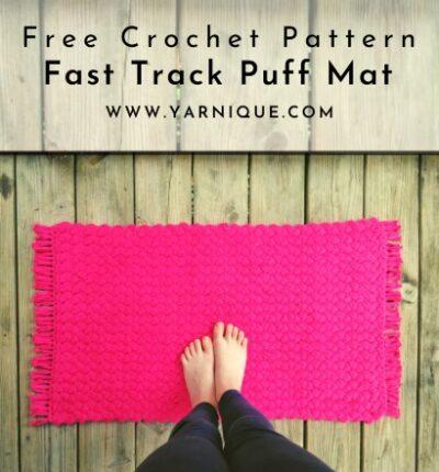 Free Crochet Pattern Fast Track Puff Mat