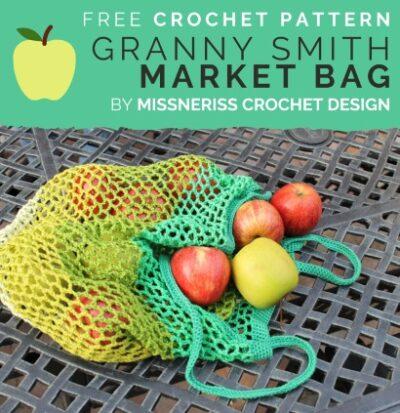 Free Crochet Pattern Granny Smith Market Bag