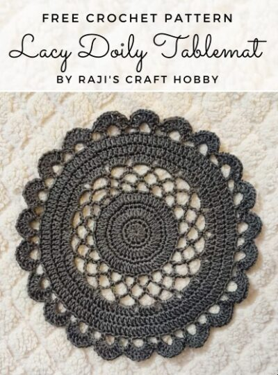 Free Crochet Pattern Lacy Doily Tablemat