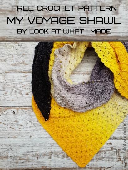 Free Crochet Pattern My Voyage Shawl