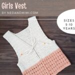 Free Crochet Pattern Peaches Cream Girls Vest