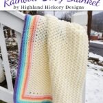Free Crochet Pattern Rainbow Baby Blanket