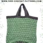 Free Crochet Pattern Sage Green Bag