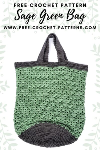 Free Crochet Pattern Sage Green Bag