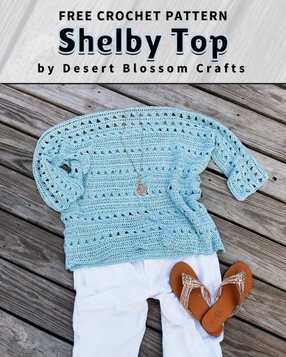 Free Crochet Pattern Shelby Top