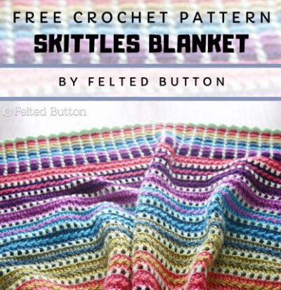 Free Crochet Pattern Skittles Blanket