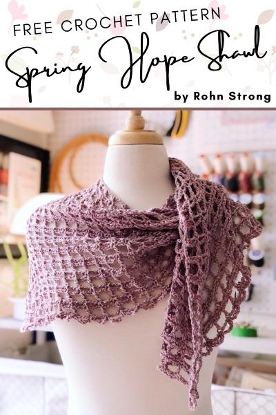 Free Crochet Pattern Spring Hope Shawl