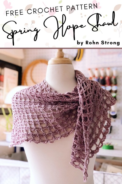 Free Crochet Pattern Spring Hope Shawl