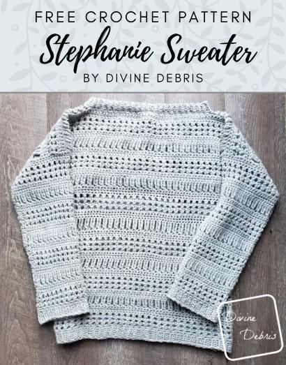 Free Crochet Pattern Stephanie Sweater