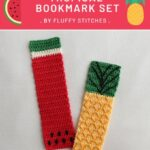 Free Crochet Pattern Tropical Bookmark Set