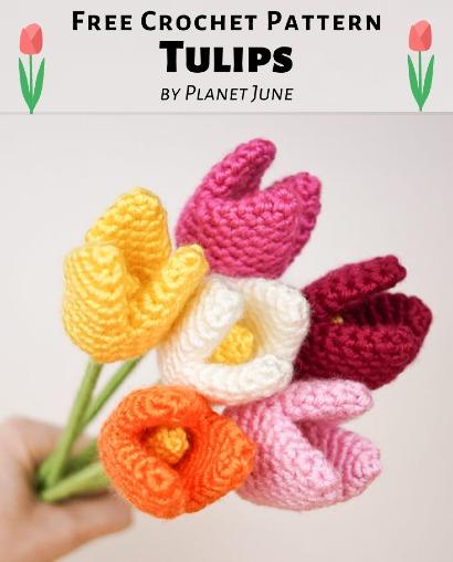 Free Crochet Pattern Tulips