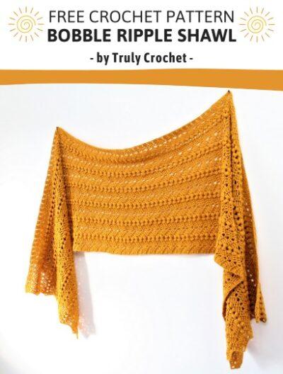 Free Crochet Pattern Bobble Ripple Shawl