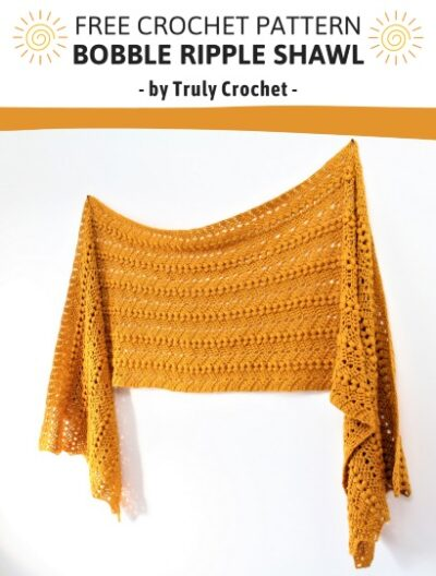 Free Crochet Pattern Bobble Ripple Shawl