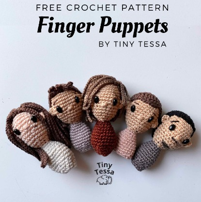 Free Crochet Pattern Finger Puppets