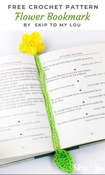 Free Crochet Pattern Flower Bookmark