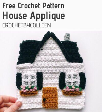 Free Crochet Pattern House Applique