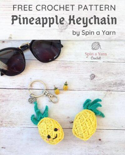 Free Crochet Pattern Pineapple Keychain