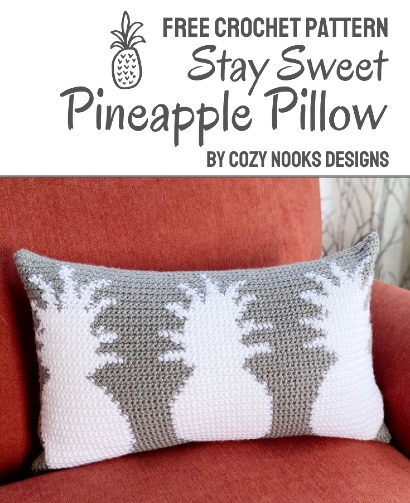 Free Crochet Pattern Pineapple Pillow